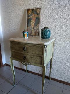 Mesas De Luz Antigua Reciclada Con Marmol