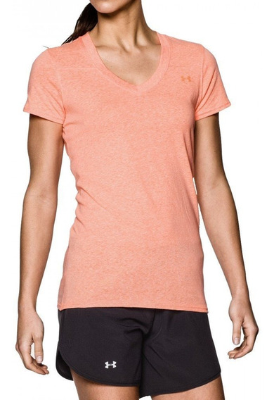 Remera Under Armour Charged Standout Afterglow Para Mujer