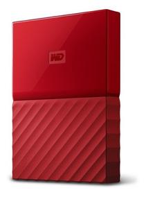 Disco Duro Externo Hdd Ext 2.5 Wd Mypassp 1tb Usb3 Rojo