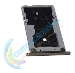 Soporte Bandeja Chip Tarjeta Sim Xiaomi Note 4x Dorada