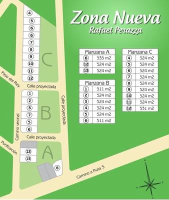 Terrenos En Venta,510m²,rafael Perazza