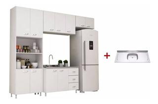 Mueble De Cocina Madrid Aéreo + Bajo + Pileta Sensacion