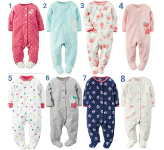 Enteritos Pijamas Con Pie Micro Polar Carter
