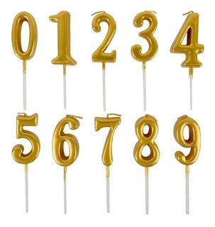Vela Números Dorada - Dorado - Universo Mágico