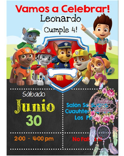 Paw Patrol Invitaciones En Mercado Libre Uruguay