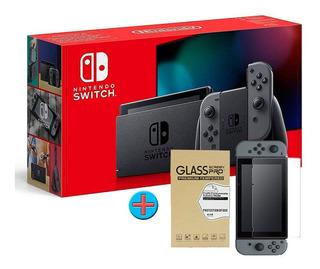 Nintendo Switch Gris + Vidrio Templado De Regalo, Macrotec