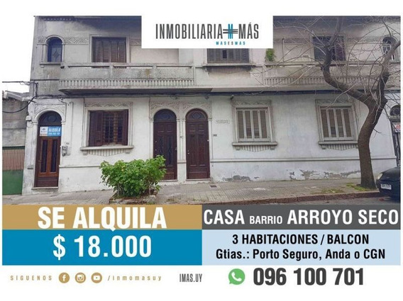3 Dormitorios Alquiler De Casa Arroyo Seco Montevideo L *