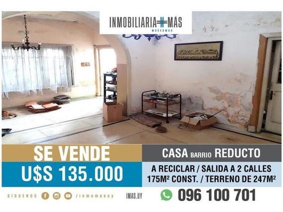 Casa Venta Reducto Montevideo A Reciclar L