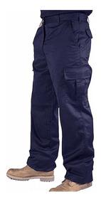 Pantalón Cargo De Trabajo Reforzado Azul - Mundo Trabajo