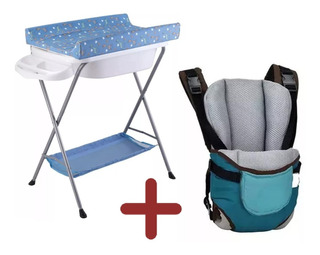 Baño Bañito Con Cambiador Para Bebe + Marsupio Bebe Lg