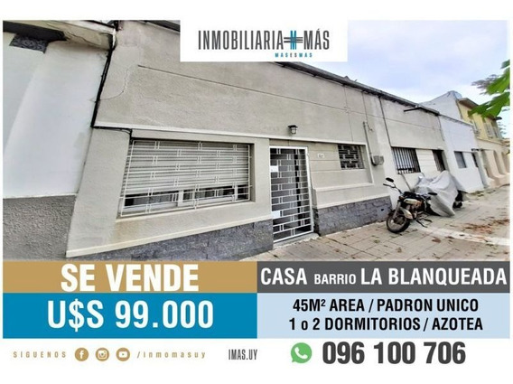Casa Venta La Blanqueada Montevideo Inmobiliaria Mas R *