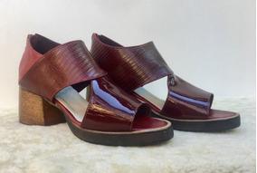 Zapato Sandalia De Cuero De Dama