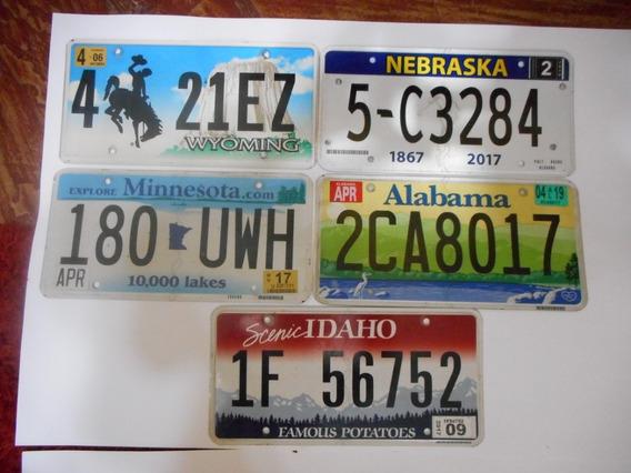 Matriculas Chapas Auto Americanas Originales 30x15.muy Buena