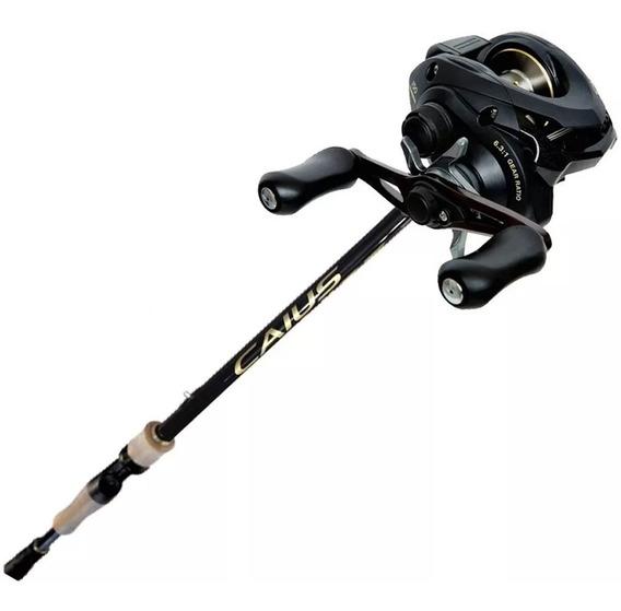 Set De Pesca Shimano Caius Caña 2.10mts + Reel Rotativo
