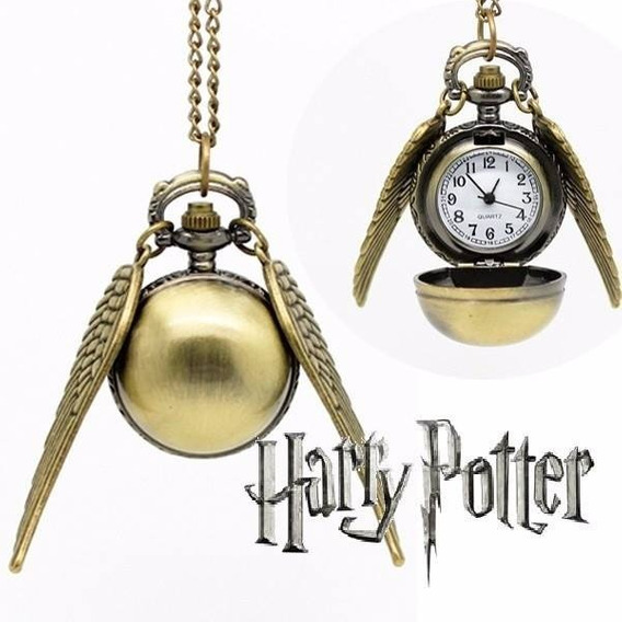 Colgante Reloj Snitch De Harry Potter Importado De Metal.