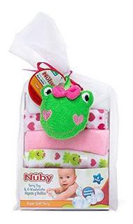 Babitas Nuby Set De 6 Con Esponja Rosa - Bebés Y Niños