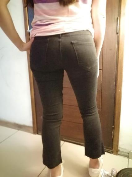 Pantalon De Jean Zara Sin Uso Color Negro Talle 36 Dama