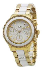 Reloj Dkny Ceramic Gold Westside