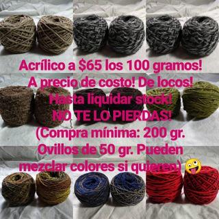 Ovillos De Acrílico Para Tejer En Crochet 2 Agujas Invierno