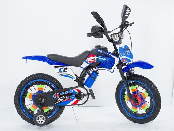 Bicicleta Moto Rod 16 C/ Roncador Super Oferta Casa Imperio