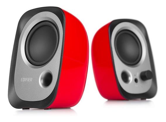 Parlante 2.0 Edifier R12u Usb Sonido Balanceado Rojo