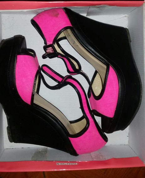 Sandalias Negrad Y Rosa