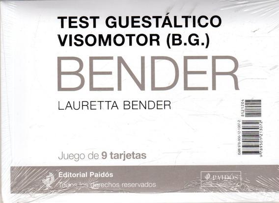 Test Guestáltico Visomotor (b.g.) Bender/juego De 9 Tarjetas