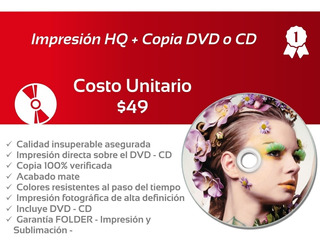 **** Impresion Dvd + Copia Dvd - Incluye Dvd O Cd ****