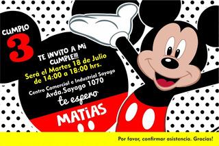 Tarjetas Cumpleanos Mickey En Mercado Libre Uruguay