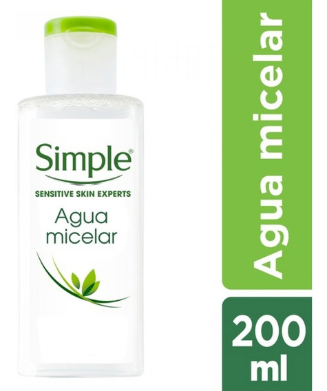 Agua Micelar Simple Desmaquillante En 1 Solo Paso 200ml