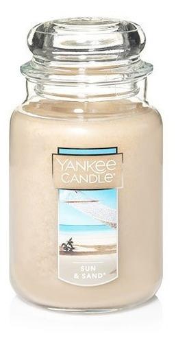 Vela Aromática Large Jar Sun & Sand Yankee Candle