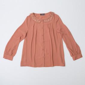 Camisa De Gasa Cuello De Encaje W12.105/24 Tienda Oficial