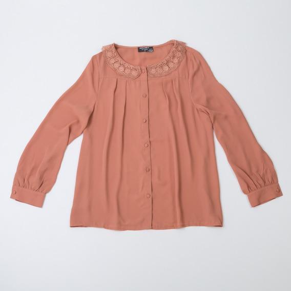 Camisa De Gasa Cuello De Encaje W12105/24 Tienda Oficial