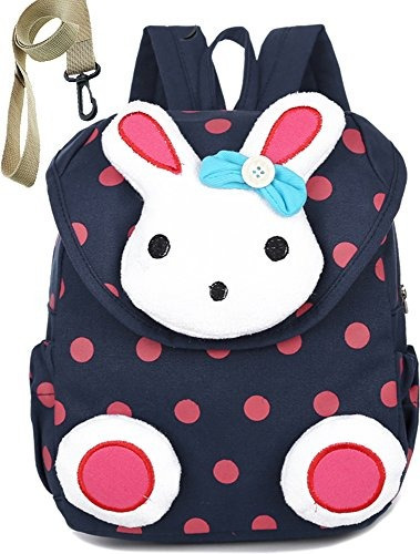 Niños Kid Backpack Organizer Preescolar Con Harness Rabbit P