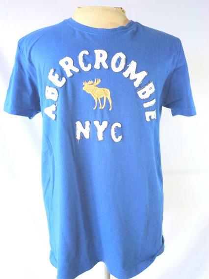 Abercrombie Remera Algodón Azul