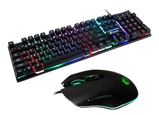 Combo Teclado Mouse Gamer Razeak Retroiluminado Pro Rzk-2 Oy