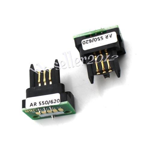 Lote De 2 Ar621nt De Chip De Toner Para Sharp Ar-550 550n 62