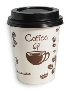 Vaso Descartable Polipapel Para Café Impreso Con Tapa 240ml