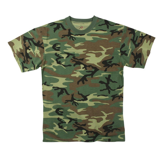 Remera Woodland Camo Rothco Talle L