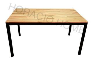 Mesas De Comedor Muebles En Hierro Y Madera - Horacio Home