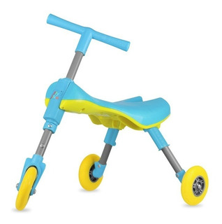 Triciclo Plegable Para Niños - Celeste