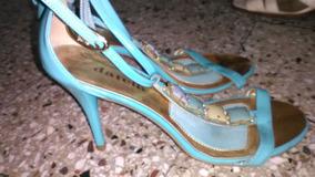 Sandalias Italianas,como Nvas. Pedrería. Acharoladas.23cm
