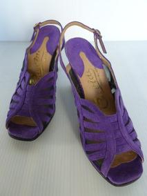 Sandalia De Vestir Violeta T 37.