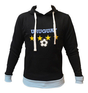Buzo Canguro Uruguay De Adulto Celeste Abrigo Mvd Sport