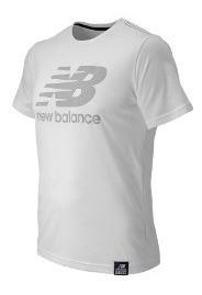 Remera New Balance Hombre Mt53511wtv Essentials Plus Ss