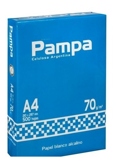 Resma Hojas Papel Pampa A4 210x297mm 70g 500 Hojas Febo