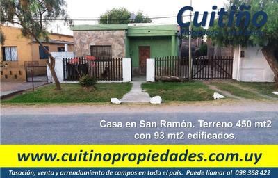 Casa En Venta En San Ramón. Acepta Banco Bhu