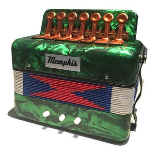 Acordeon Mini Infantil Memphis Stp102 Color Verde