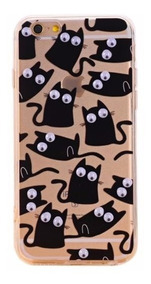 Icase - Carcasa Gatos Negros Ojos - iPhone 6 Plus - Tpu