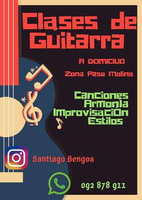 Clases De Guitarra A Domicilio. Zona Paso Molino